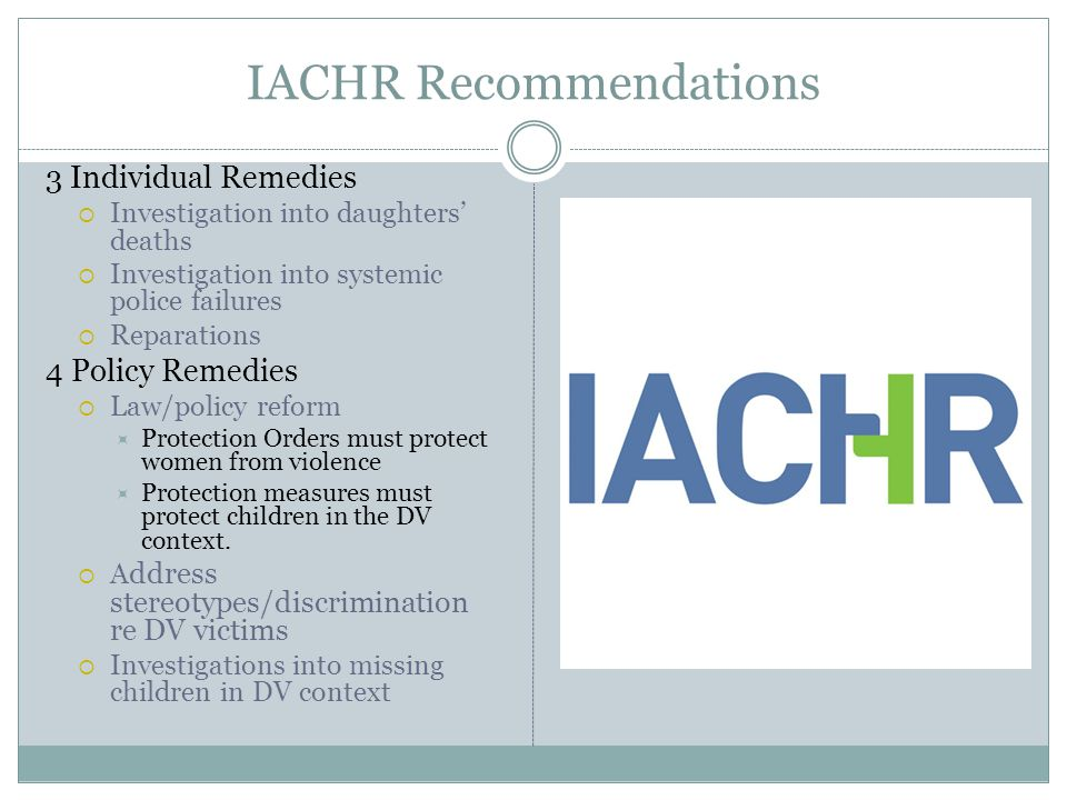IACHR Recommendations