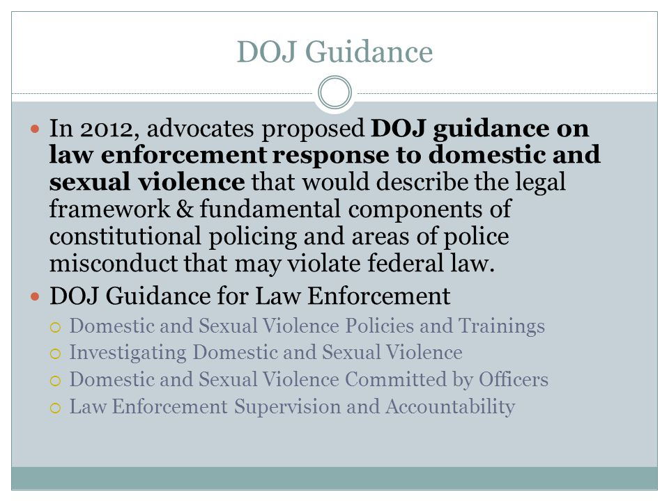 DOJ Guidance