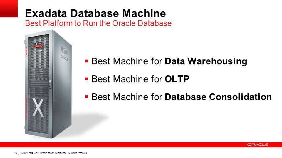 Exadata Database Machine Best Platform to Run the Oracle Database