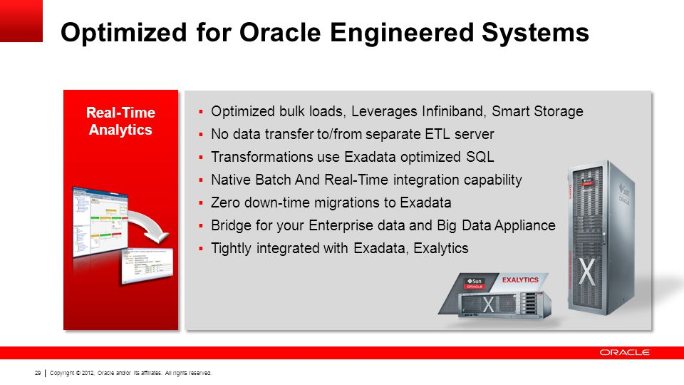 Optimized for Oracle Engineered Systems