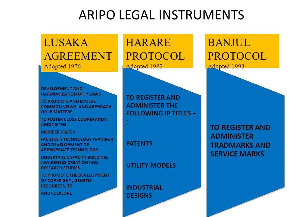 ARIPO LEGAL INSTRUMENTS