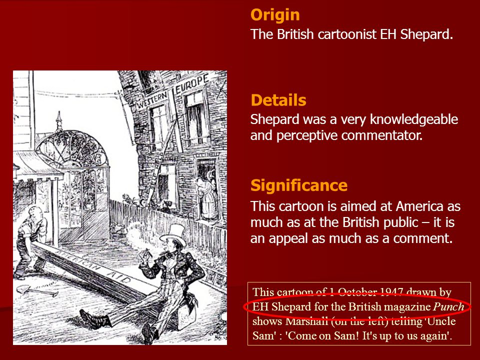 Origin Details Significance The British cartoonist EH Shepard.