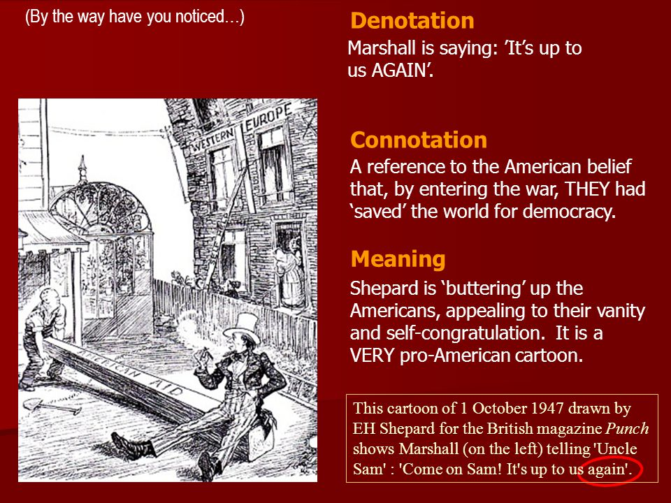 Denotation Connotation Meaning (By the way have you noticed…)