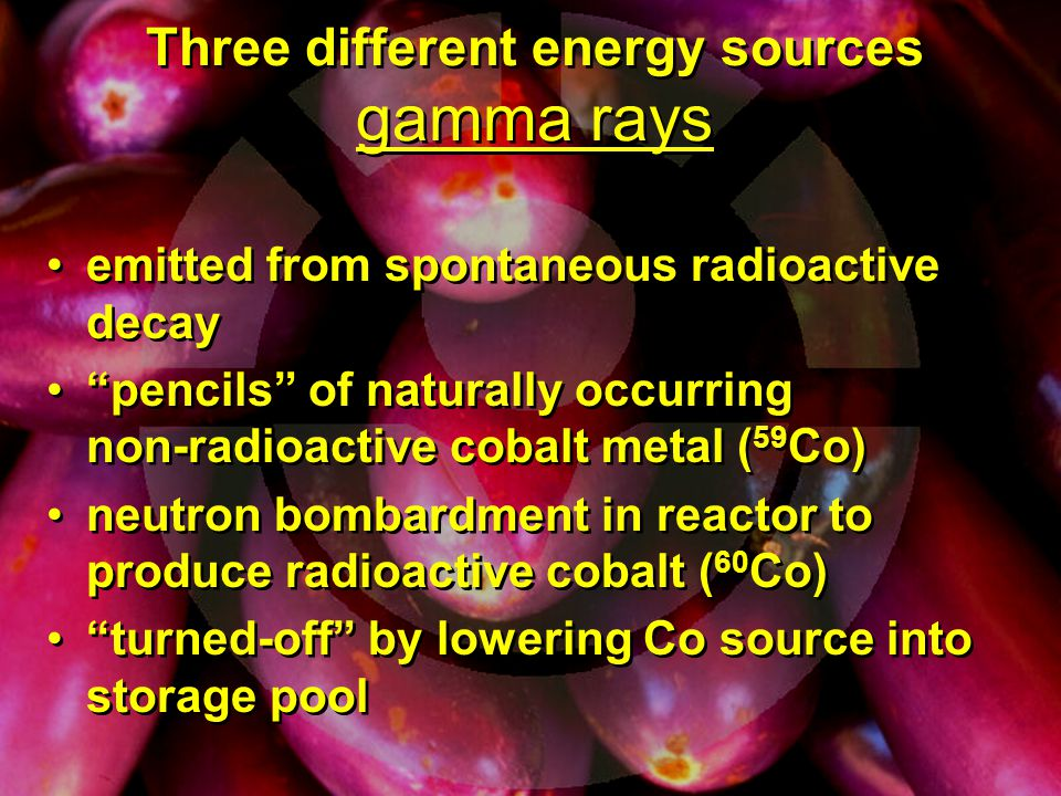 Three different energy sources gamma rays