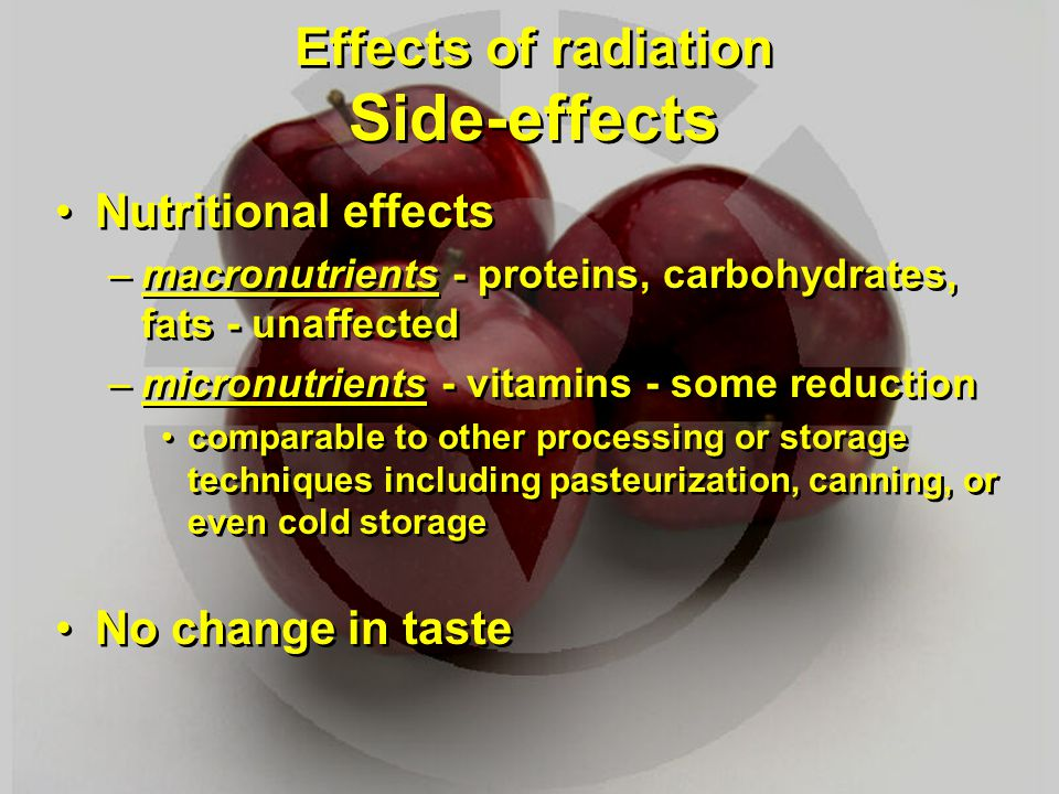 Effects of radiation Side-effects