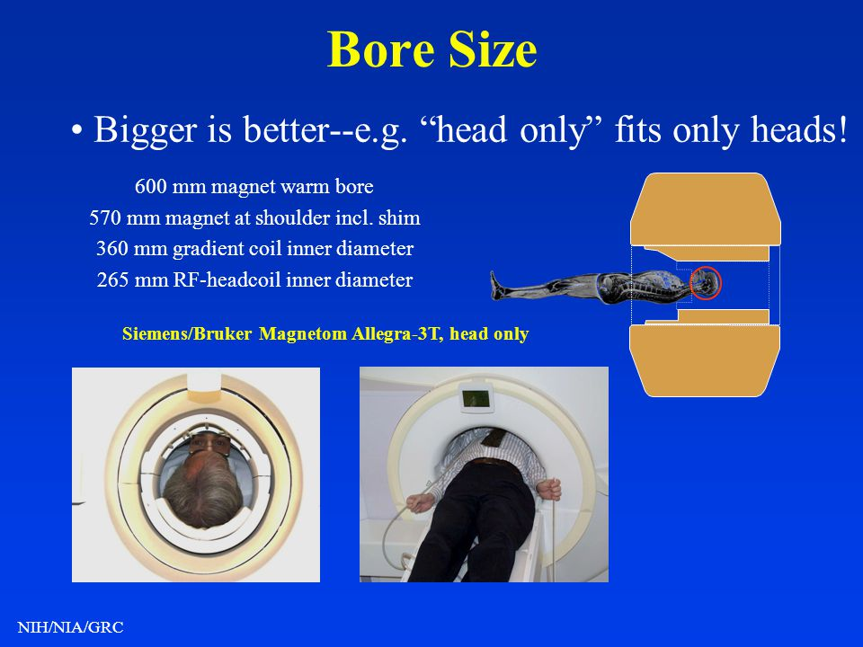 • Bigger is better--e.g. head only fits only heads!