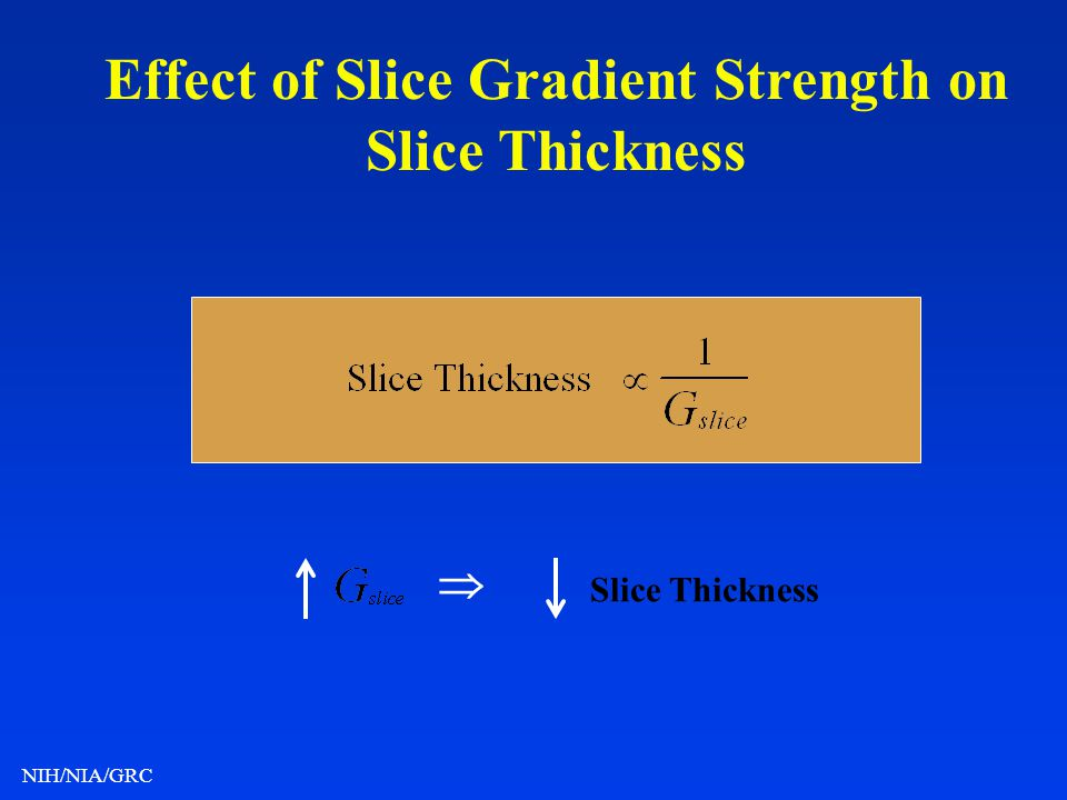Effect of Slice Gradient Strength on