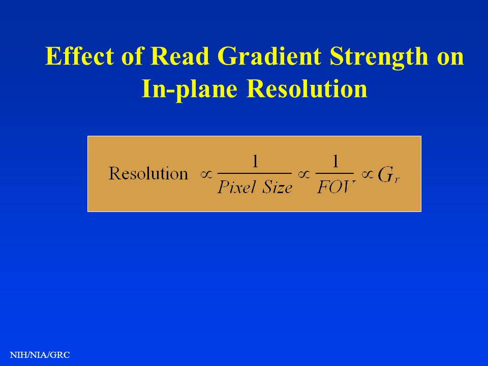Effect of Read Gradient Strength on