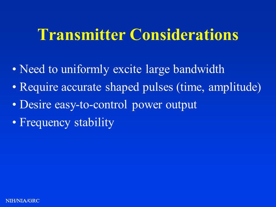 Transmitter Considerations