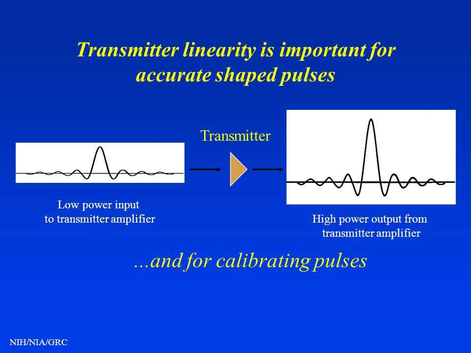 Transmitter linearity is important for accurate shaped pulses