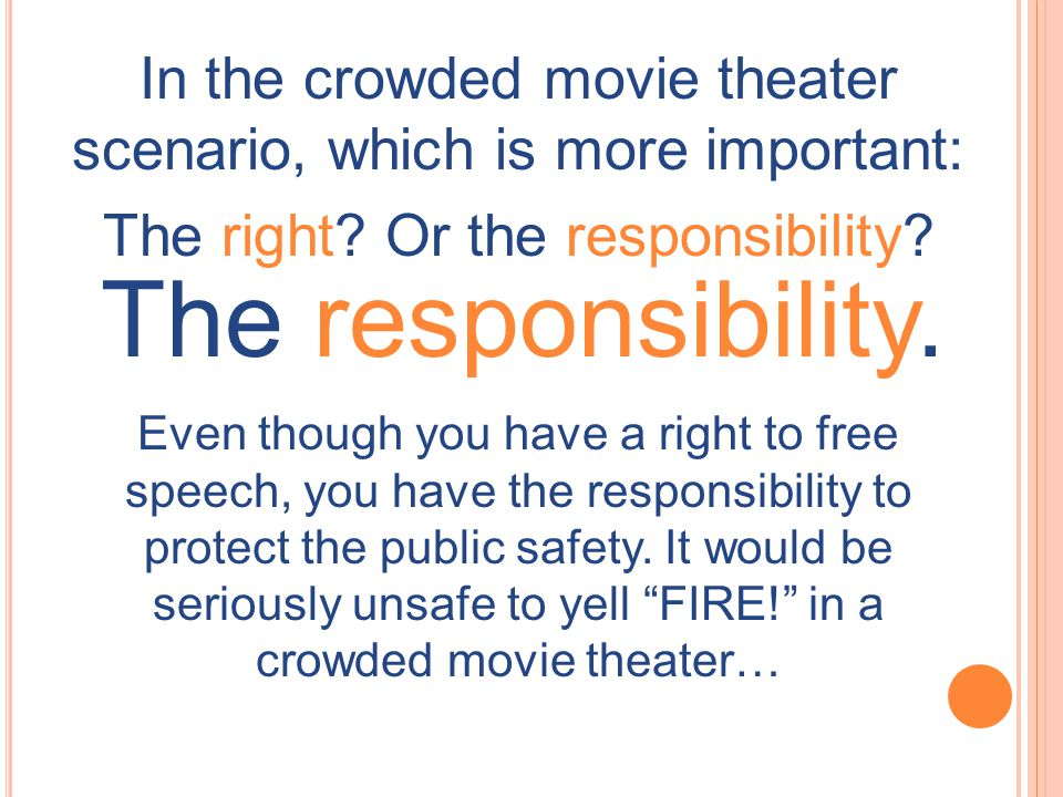 In the crowded movie theater scenario, which is more important:
