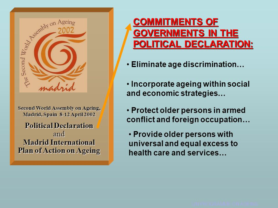 COMMITMENTS OF GOVERNMENTS IN THE POLITICAL DECLARATION: