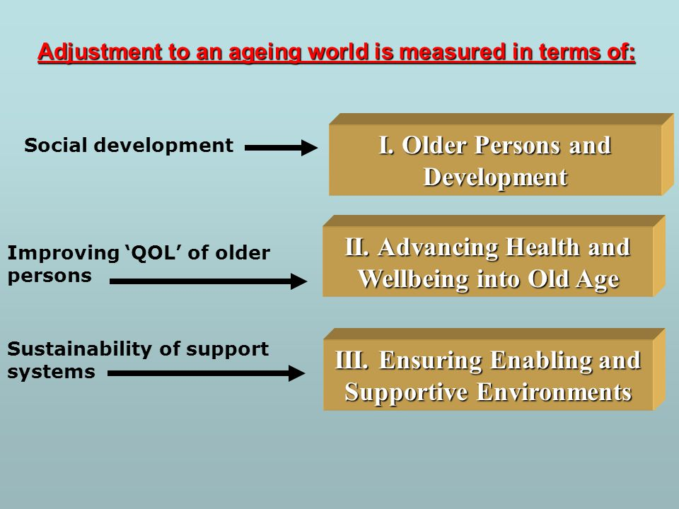 I. Older Persons and Development
