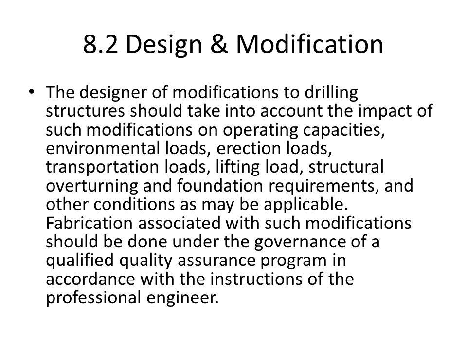 8.2 Design & Modification