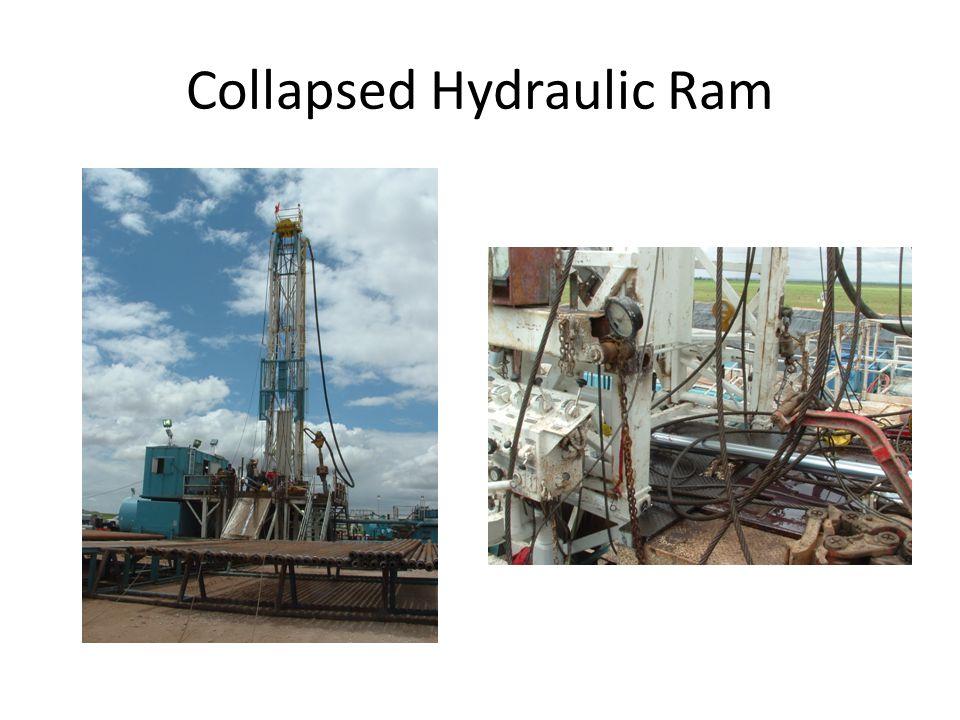 Collapsed Hydraulic Ram