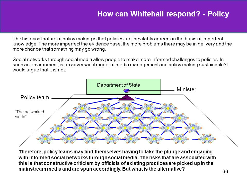 How can Whitehall respond - Policy