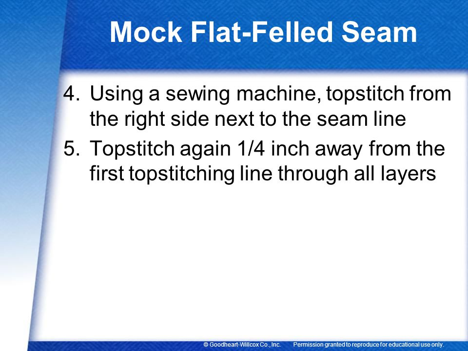 Mock Flat-Felled Seam