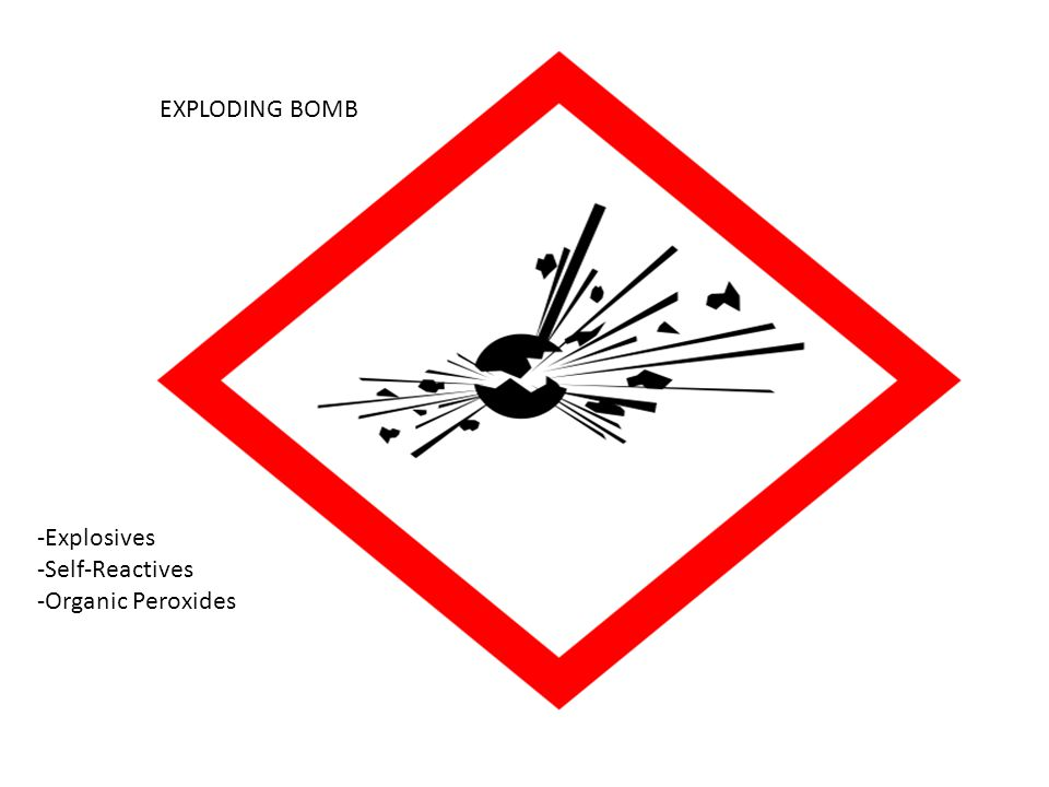 EXPLODING BOMB -Explosives -Self-Reactives -Organic Peroxides