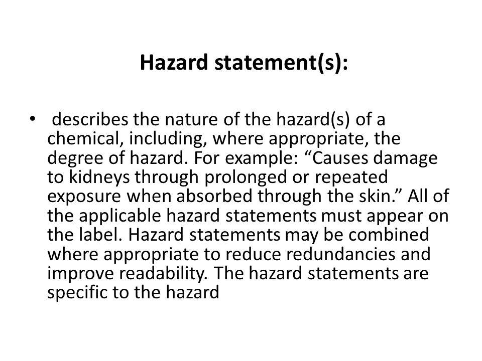 Hazard statement(s):