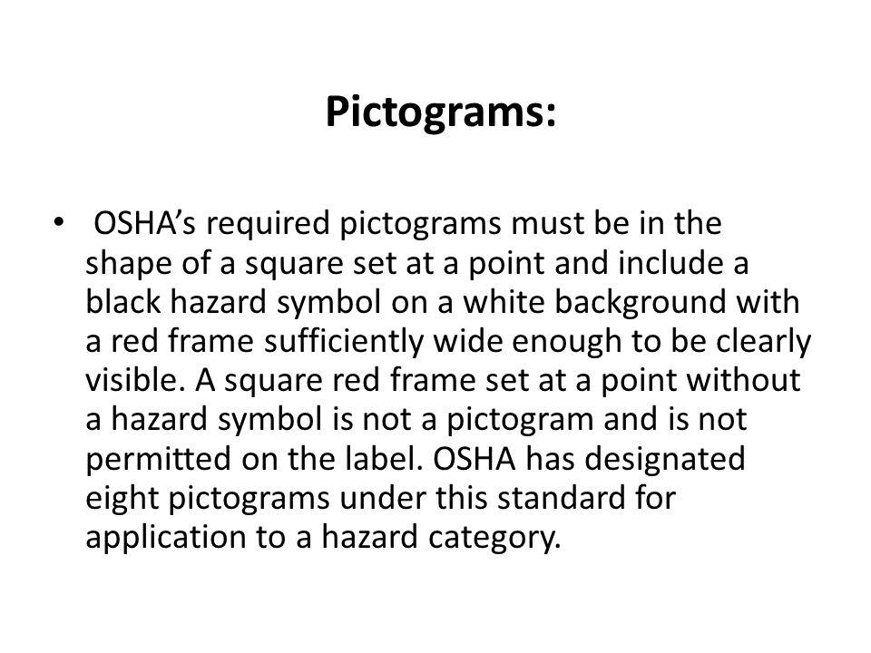 Pictograms: