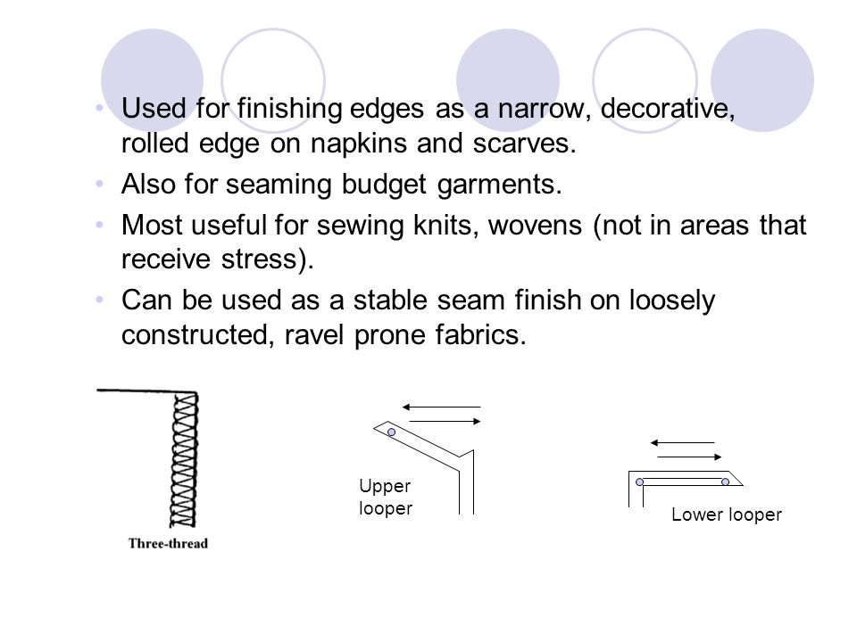 Also for seaming budget garments.