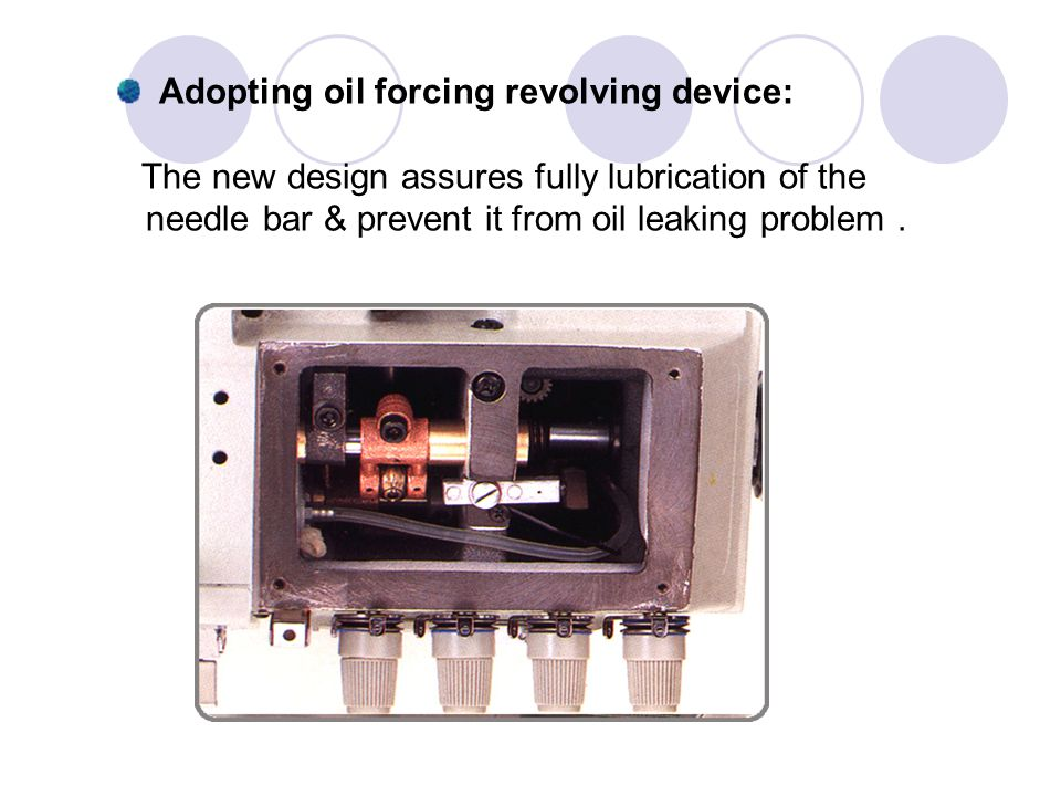 Adopting oil forcing revolving device:
