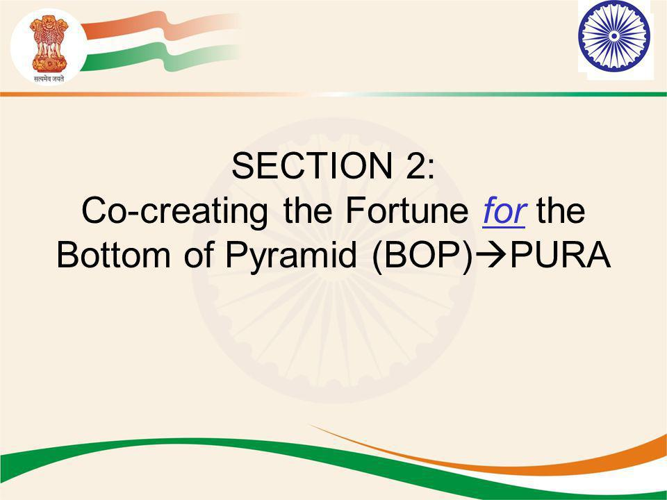 SECTION 2: Co-creating the Fortune for the Bottom of Pyramid (BOP)PURA
