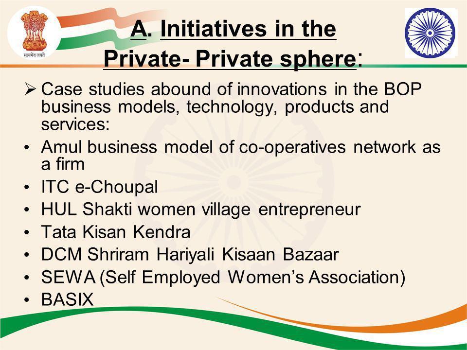 A. Initiatives in the Private- Private sphere: