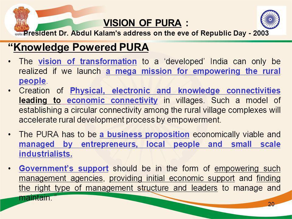 Knowledge Powered PURA