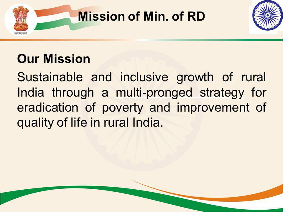 Mission of Min. of RD Our Mission.