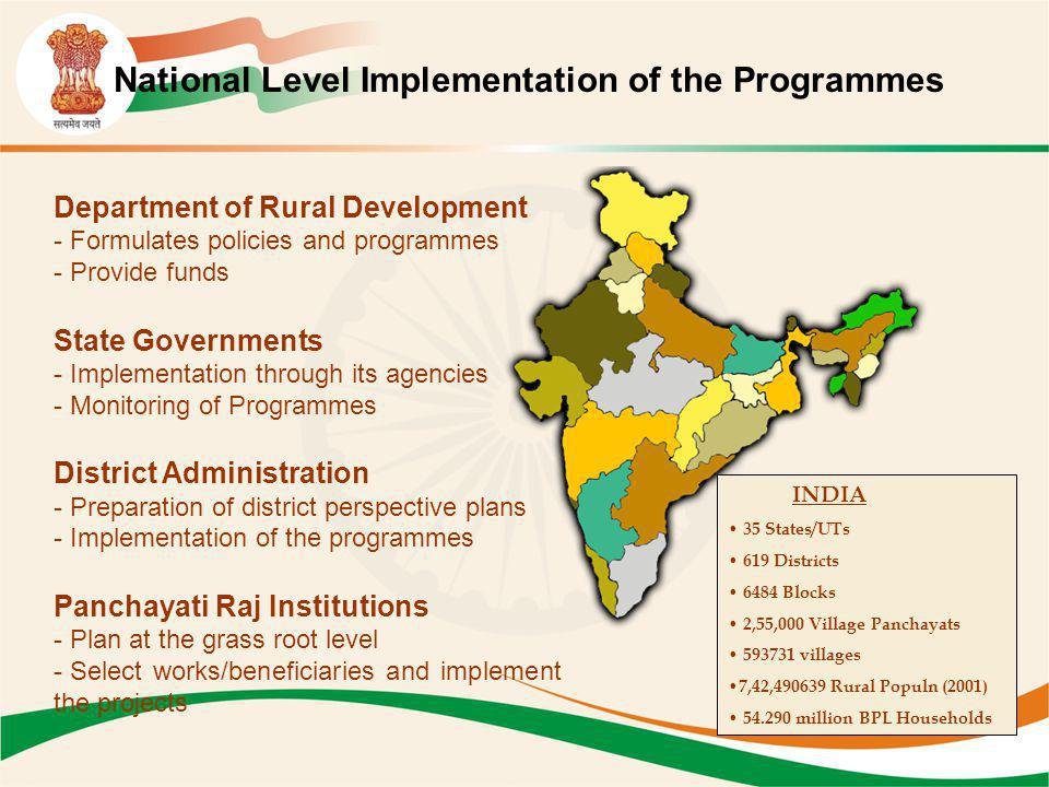 National Level Implementation of the Programmes