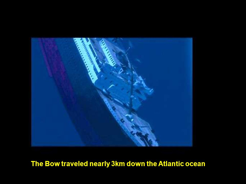 The Bow traveled nearly 3km down the Atlantic ocean