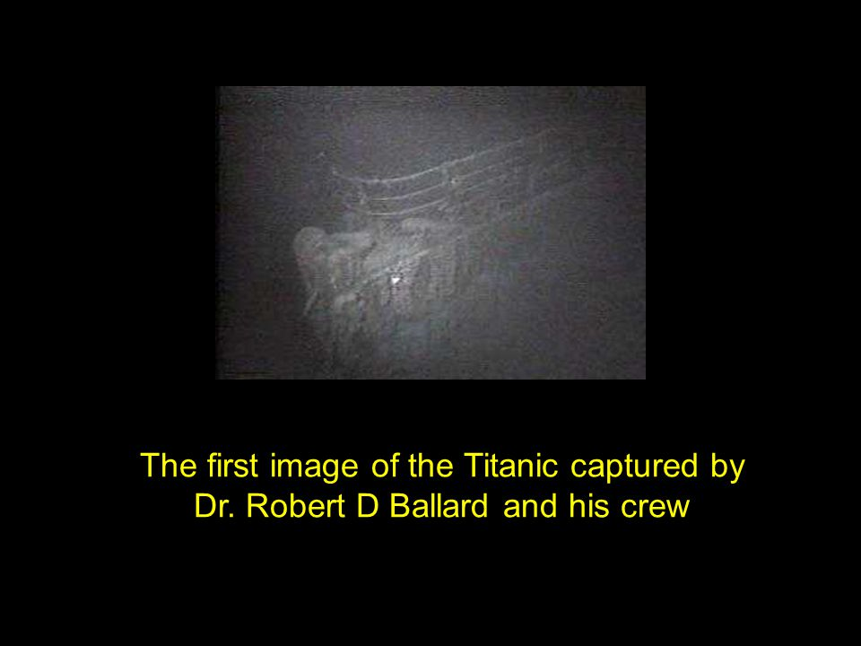 The first image of the Titanic captured by