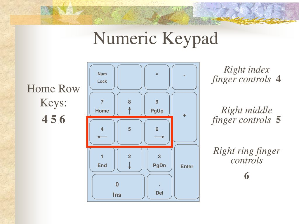 Keyboarding Numeric Keypad Ppt Download