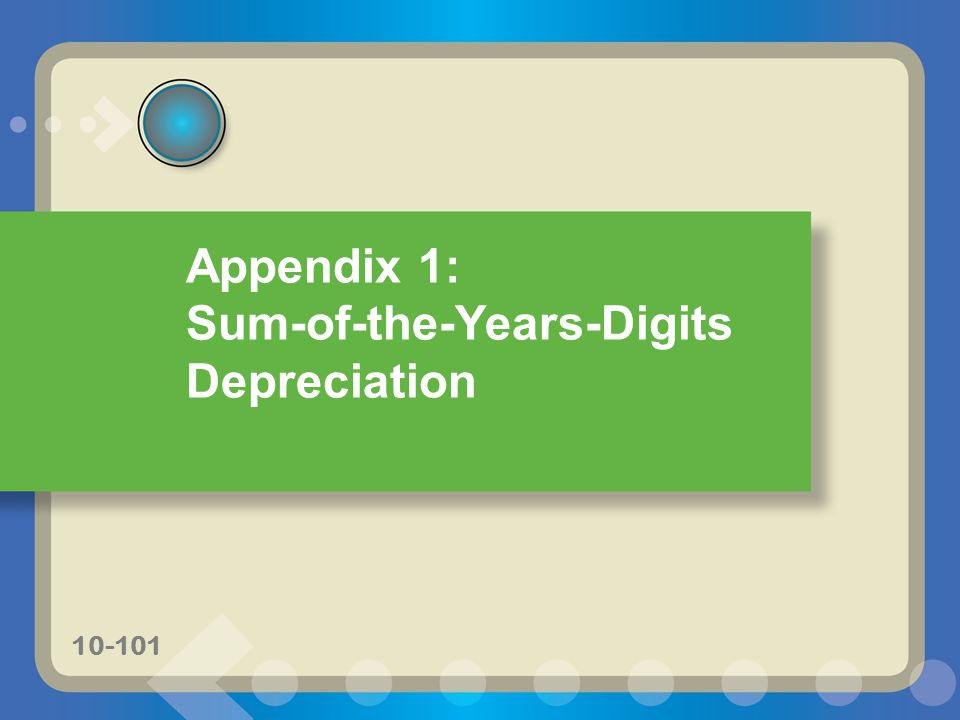Sum-of-the-Years-Digits Depreciation