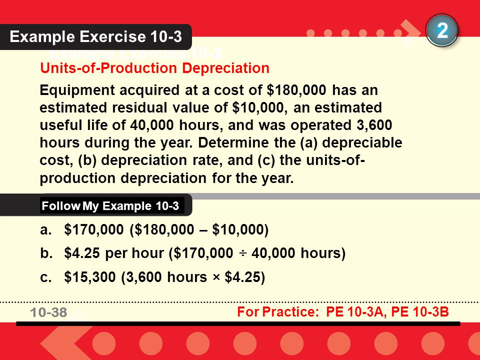 2 Example Exercise 10-3 Example Exercise 10-3 Example Exercise 10-2