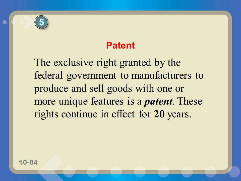 5 Patent.