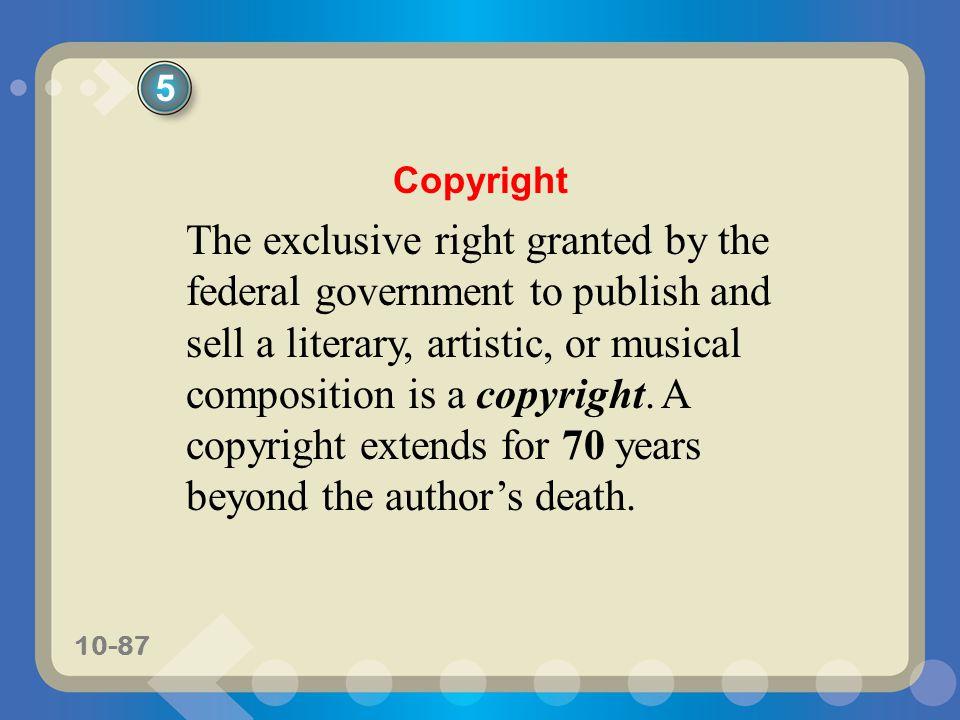 5 Copyright.