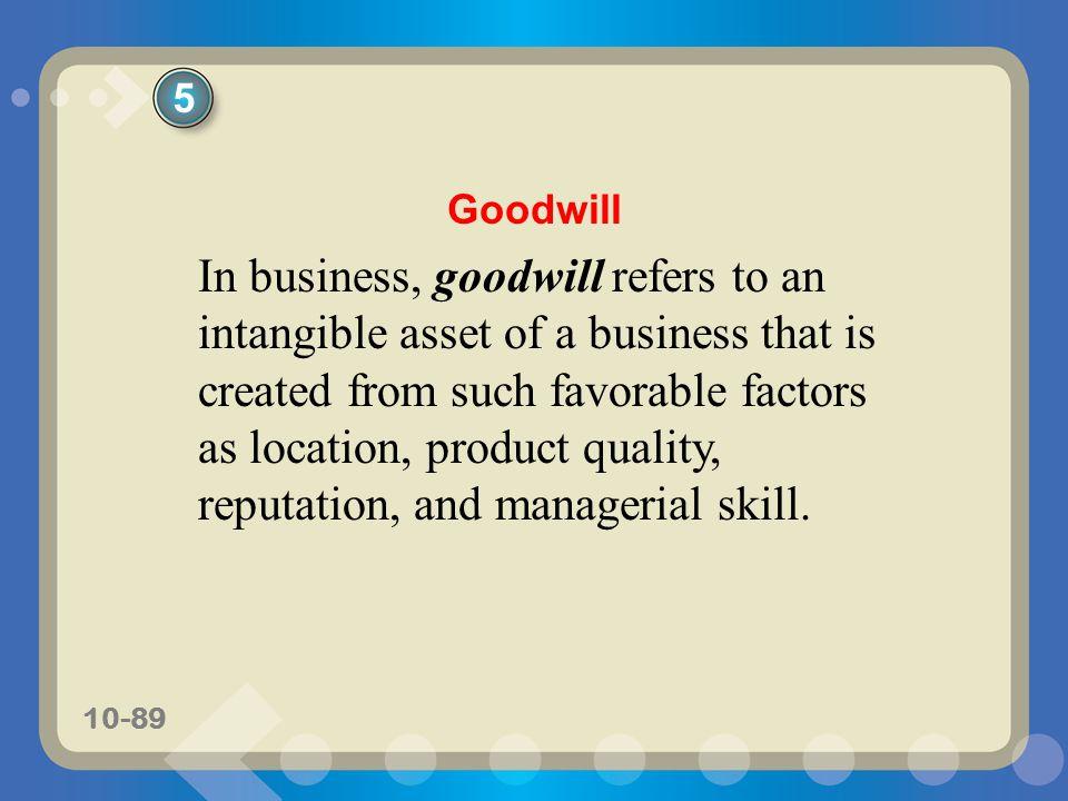 5 Goodwill.