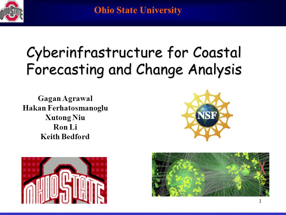 Cyberinfrastructure for Coastal Forecasting and Change Analysis