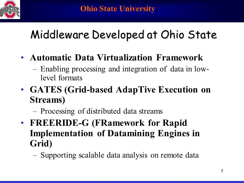 Middleware Developed at Ohio State
