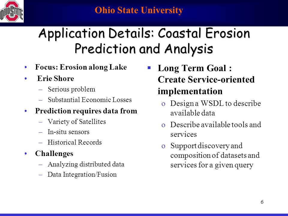 Application Details: Coastal Erosion Prediction and Analysis