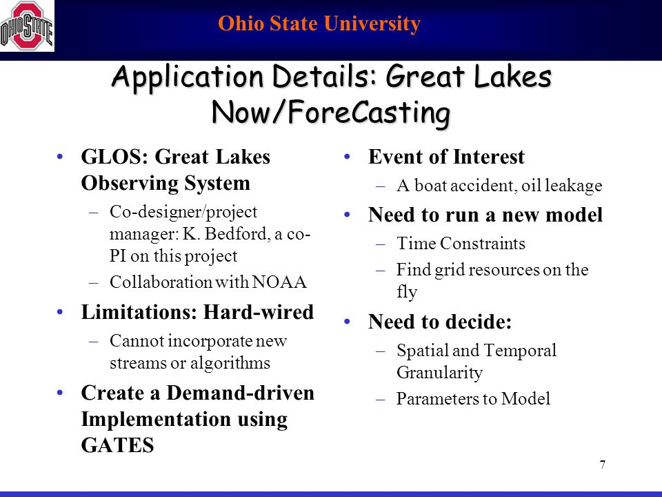 Application Details: Great Lakes Now/ForeCasting