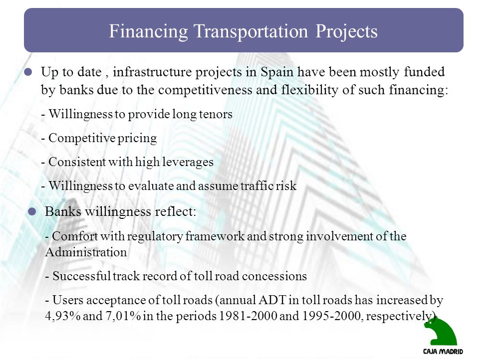 Financing Transportation Projects