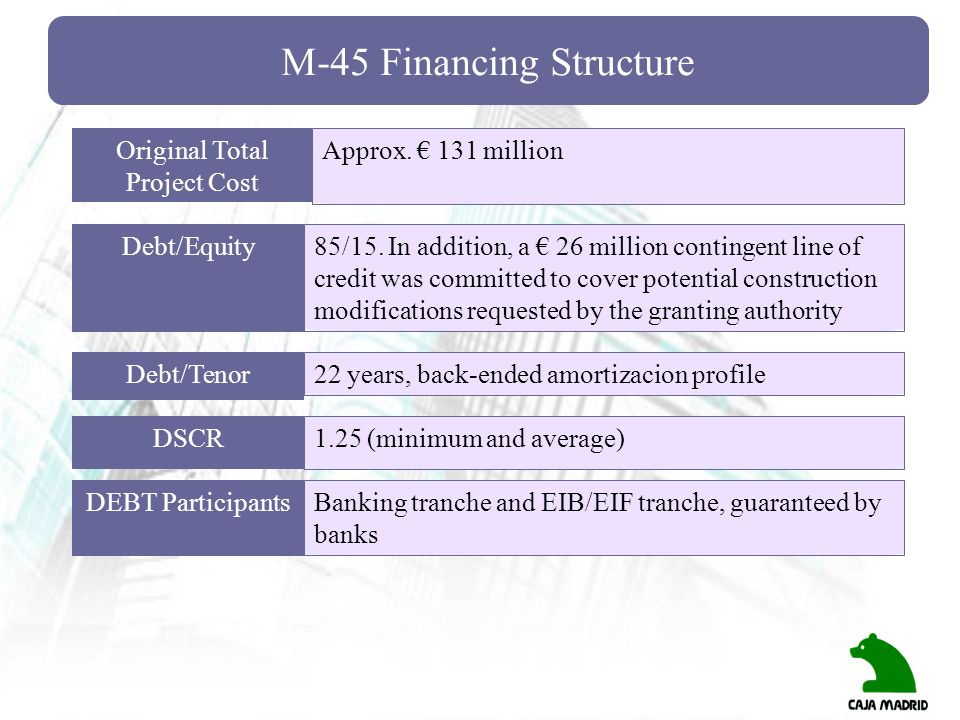 M-45 Financing Structure