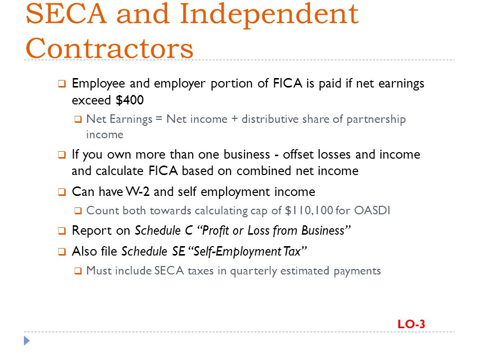 SECA and Independent Contractors