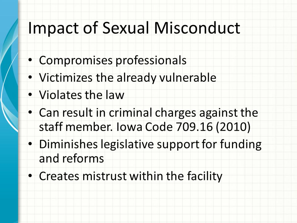 Impact of Sexual Misconduct