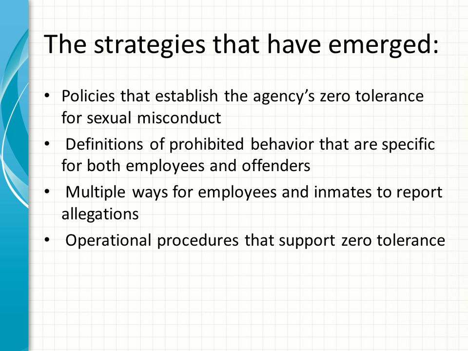The strategies that have emerged:
