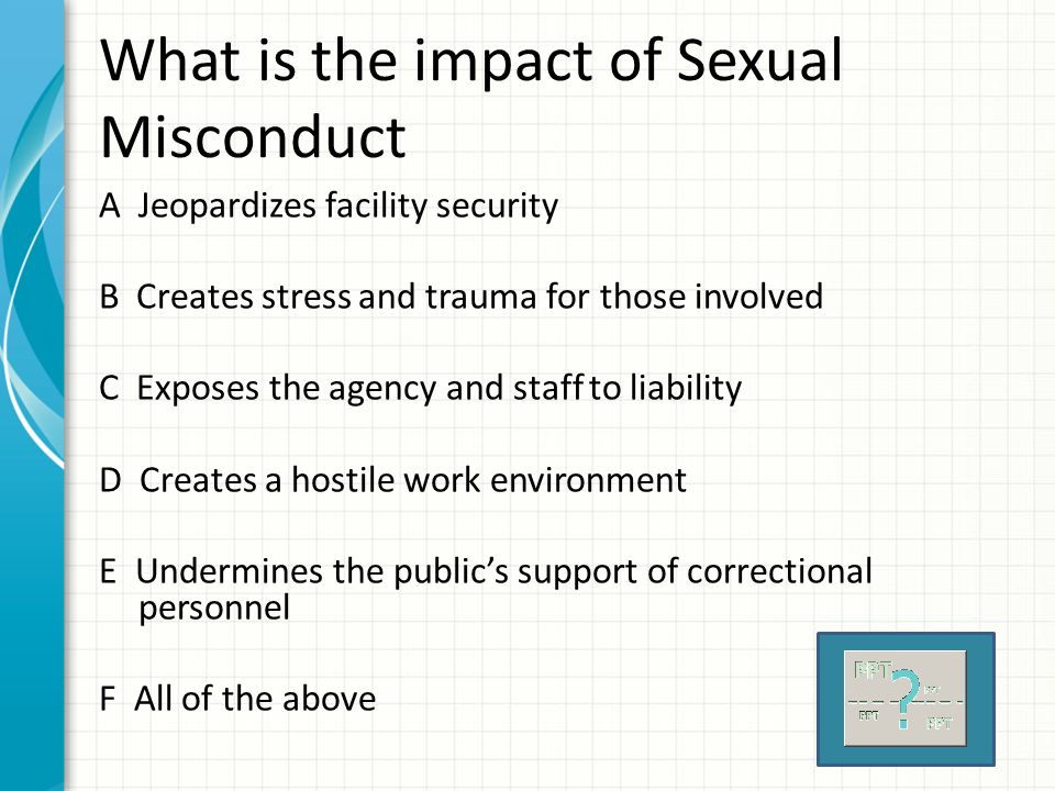 What is the impact of Sexual Misconduct