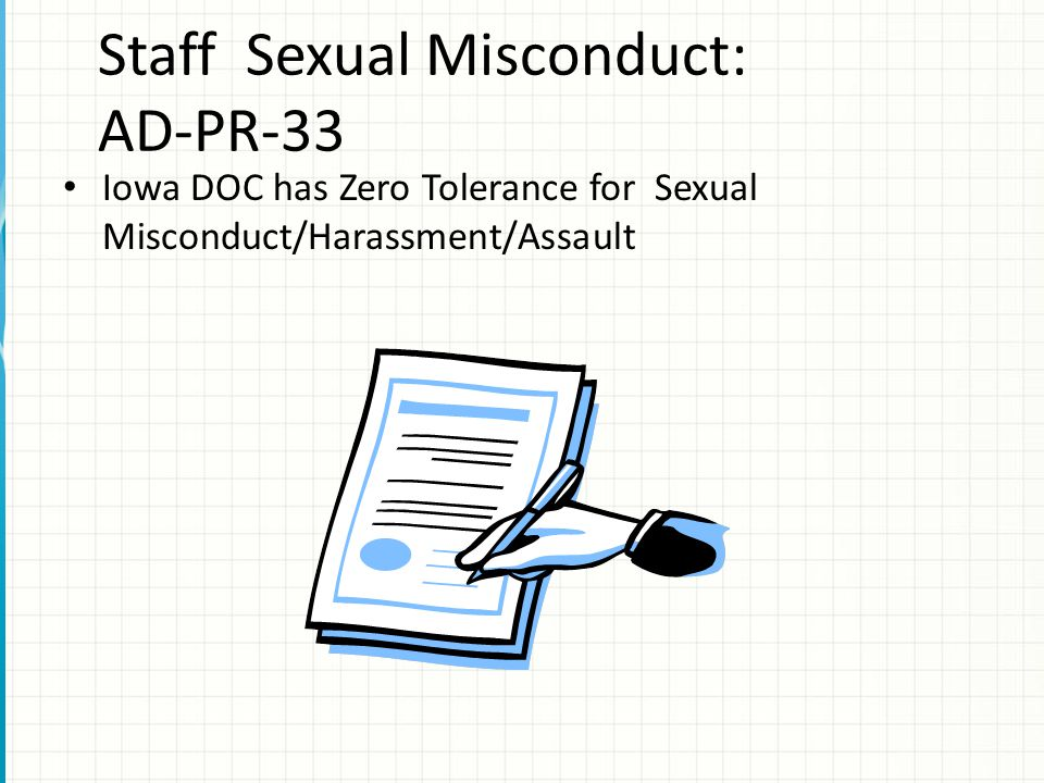 Staff Sexual Misconduct: AD-PR-33